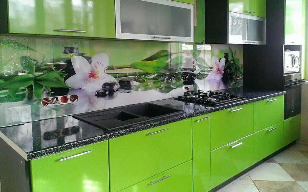 Купить каленое стекло для фартука кухни
